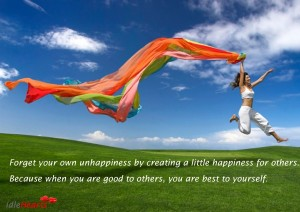 Forget-Your-Own-Unppiness-By-Creating-A-Little-Happiness-300x212